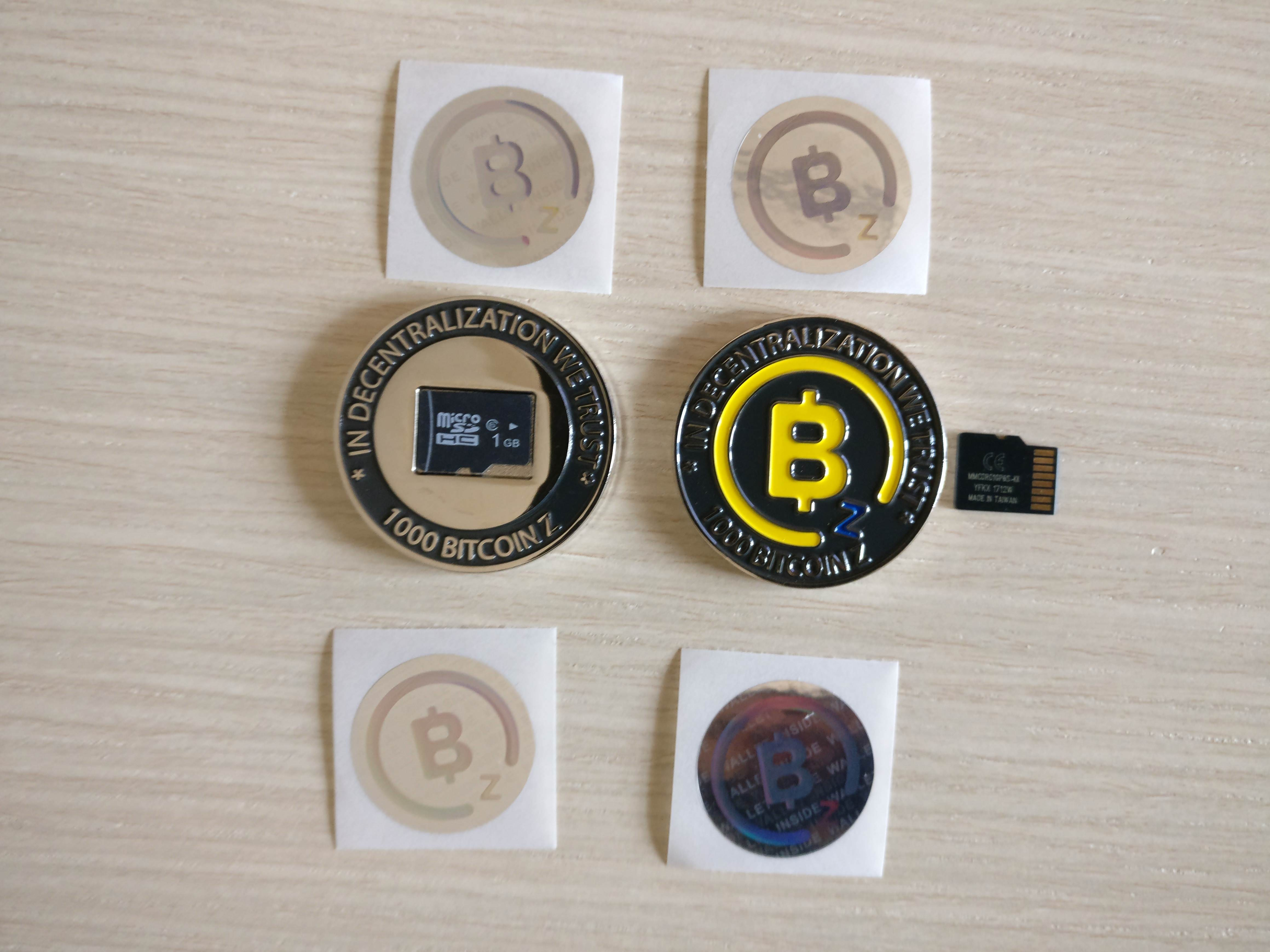 BitcoinZ physical coin - Wallet holder - (BTCZ not included